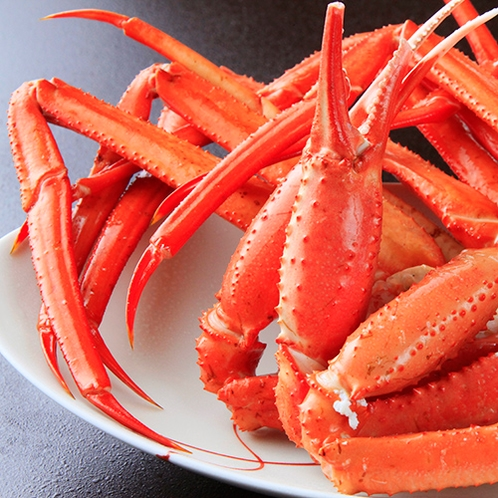夕食の蟹♪ ※蟹の種類は変更になる場合がございます。