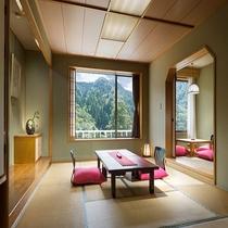 【客室(和室)一例】大自然に囲まれた癒しの和室空間♪