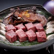【追加料理 松阪牛&伊勢海老&エリンギの宝楽焼】美味し三重の食材をふんだんにつかった追加料理♪