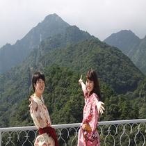 【屋上展望台】湯の山温泉随一の高台から見下ろす湯の山の自然の美!