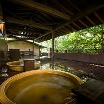 【男性露天風呂】湯の山の自然に癒される♪森林浴が楽しめる露天風呂!