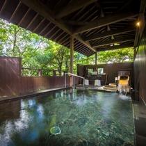 【男性露天風呂】湯の山の大自然に囲まれた森林浴がお楽しみいただけます!