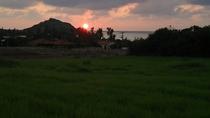 野底半島に沈みゆく夕日