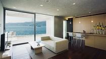 【別邸:Residence Suite】3F/110㎡のリビング