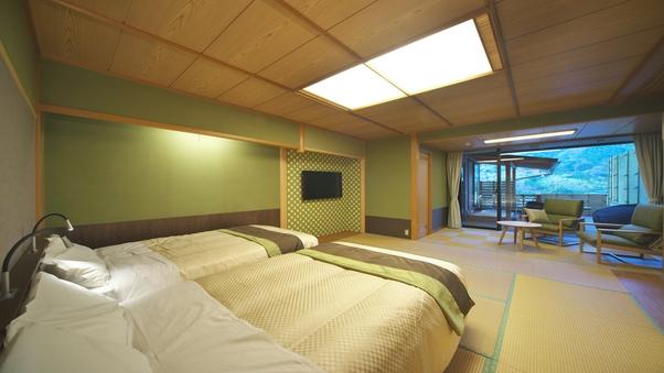 半露天風呂付和洋室◆407号室◆「つわぶき」【禁煙】