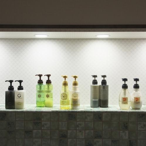 2階浴場「森の香」にはシャンプーバーを新設。お好みのシャンプーをお使いください。