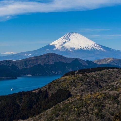 湯河原で唯一の富士山ビュースポット「大観山ビューラウンジ」まで車で約30分