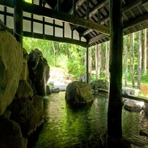 庭園岩風呂(女湯)