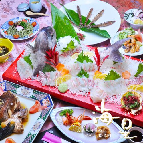 【春爛漫】さくら鯛フェア。造りは5名様用です。