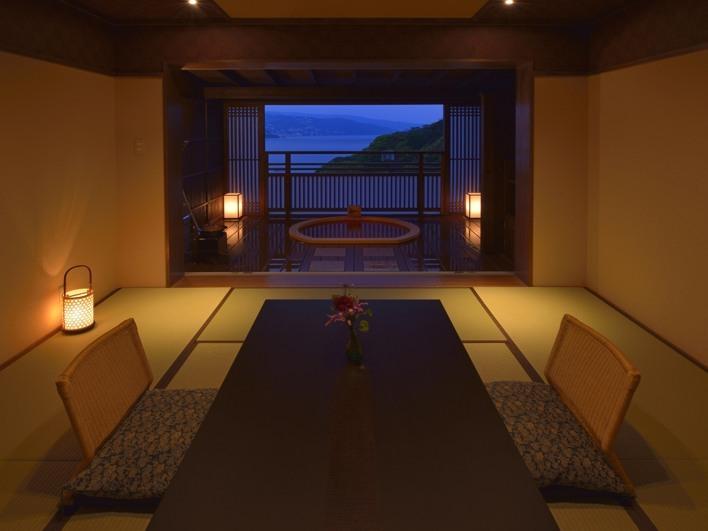 和室8畳露天風呂付き客室(大地)