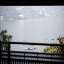 客室専用の露天風呂からの眺め