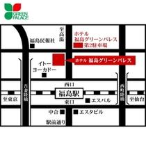 ホテル周辺 略図