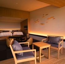 【西館(新館)】 和洋室ベッド2+和6畳(48平米)