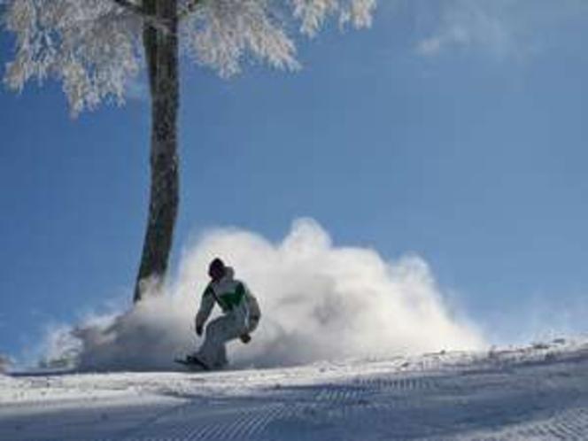 天然雪100%!野沢温泉スキー場