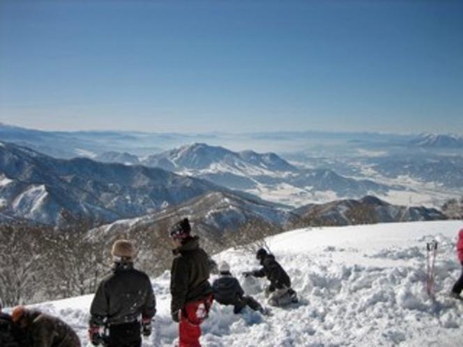 冬の奥信濃の風景