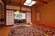 露天風呂付客室 寝室