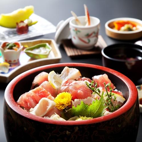 【ご昼食/ばらちらし丼(一例)】