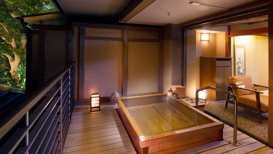 テラス露天風呂付き客室【寒菊】※眺望なし