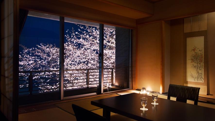 夜桜【客室】