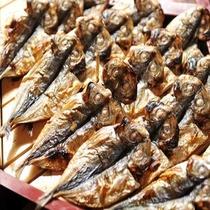朝食メニュー 鯵の干物など海の幸を満喫!