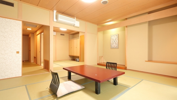 """■2間続きのお部屋【和室10畳+6畳】お食事は""""個室食事処"""""""