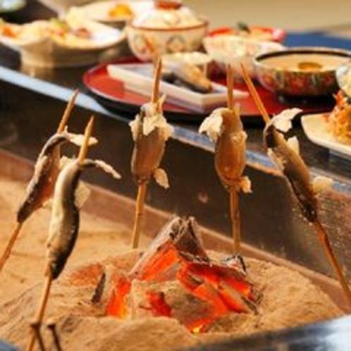 ◆囲炉裏でのお食事(一例)