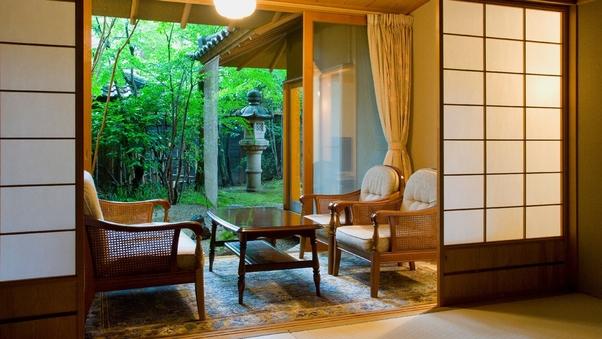 1階【露天風呂+内湯付き】和室(12畳+8畳)広縁 箱庭付