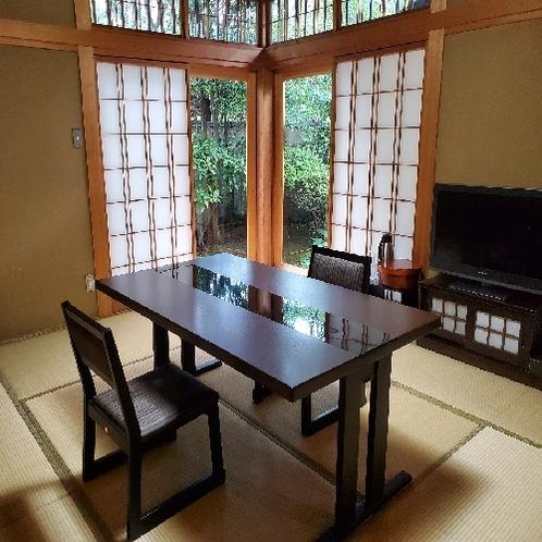 1階 【露天風呂+内湯付き】和洋室 箱庭付き (雄心)