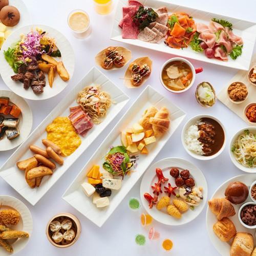 一度のご来店では、全種類を食べきることはできないほどの朝食ブッフェのメニュー数です。