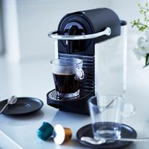 最上階フロアのお部屋には「ネスレ ネスプレッソ」を完備。コーヒーでゆっくりお寛ぎください。