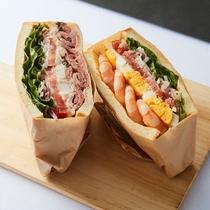 レックスカフェ人気のサンドイッチはボリュームいっぱい♪