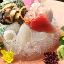【夕食・グレードアップ】旬の海のお造り