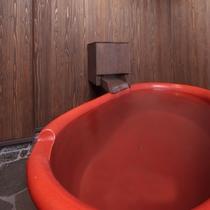 【半露天風呂】2017年秋完成!ひとり締めしたいかわいらしい陶磁器の浴槽です。