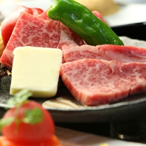 【夕食・くまもとブランド牛 】触感と味のバランスが抜群に良い熊本ブランド牛です。