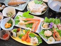 【ご夕食の一例】豊富な海の幸をお楽しみ下さい!※仕入状況によりメニューは変わります