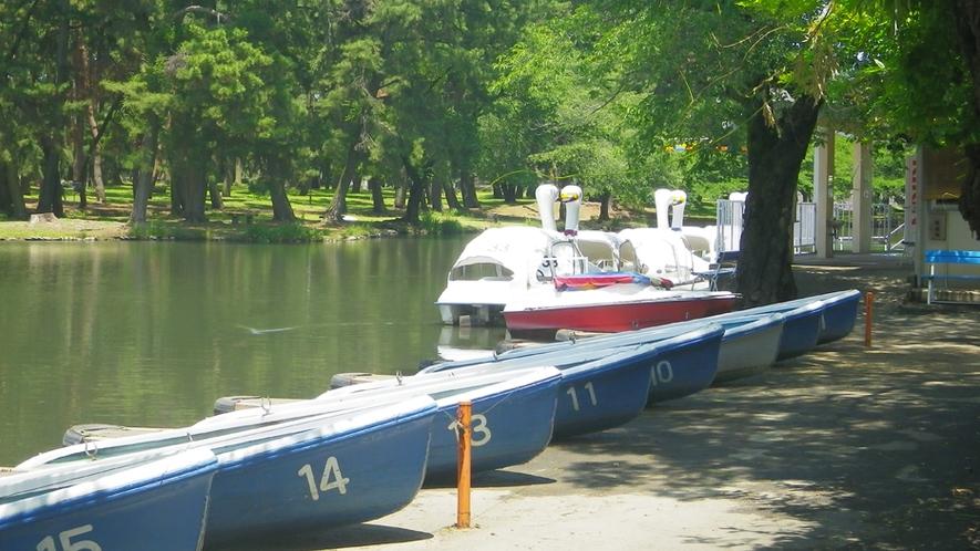 *敷島公園/緑豊かな公園では、スワンボートも楽しめる♪カップル・ファミリーにお勧め☆