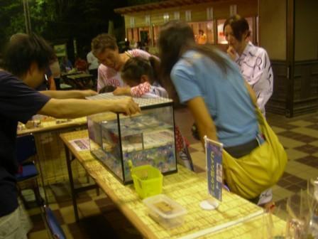 湯河原温泉・夏に3週間開催している納涼縁日(ちびっこ広場c)