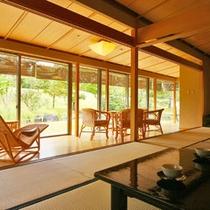 【客室例】露天風呂付客室。上質な空間でお寛ぎ頂けます。