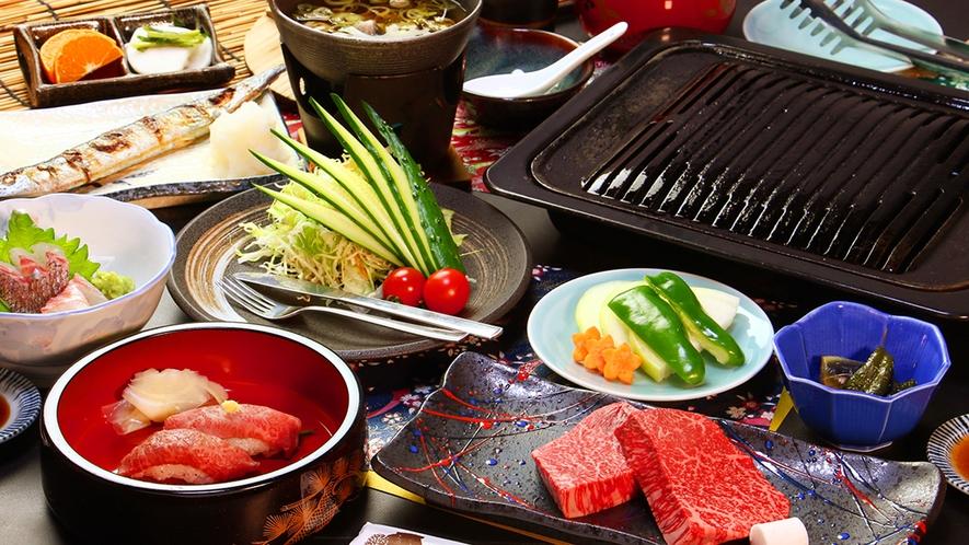 【前沢牛ランプステーキコース】最高部位のリブロースをステーキで!