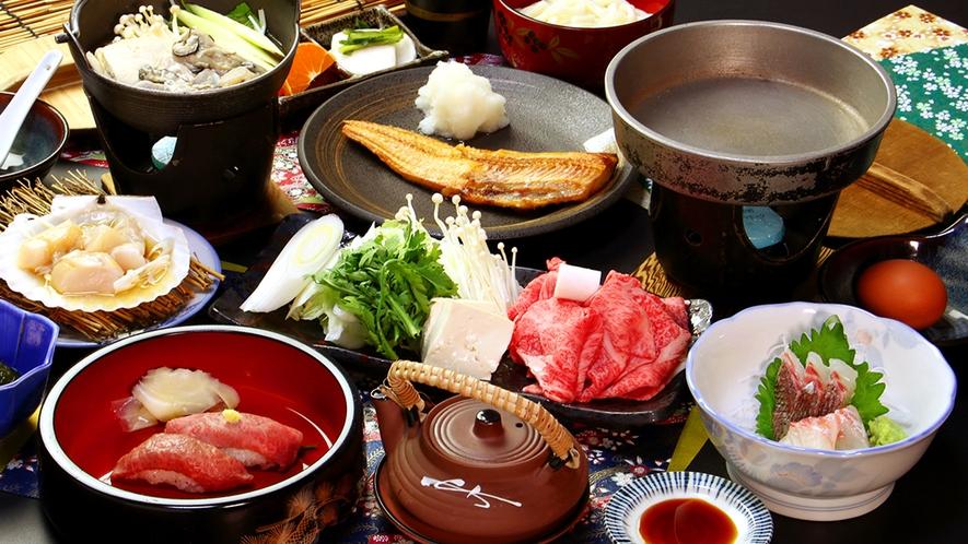 【前沢牛すき焼きコース】自家製の割り下で肉の美味しさをさらに引き出す