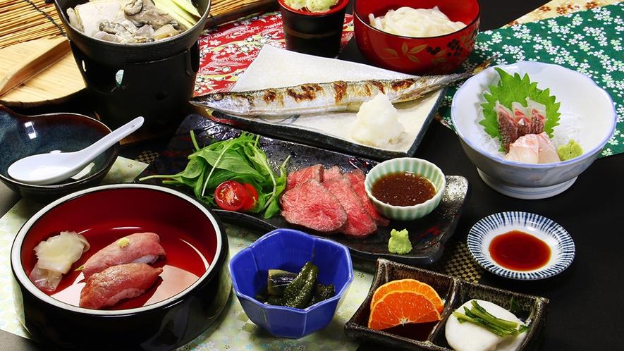 【前沢牛ローストビーフコース】贅沢の一品『前沢牛の自家製ローストビーフ』が付いたコース