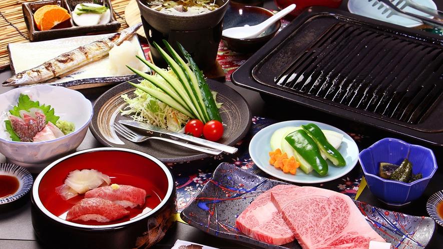 【前沢牛リブロースステーキコース】最高級200gの贅沢を鉄板で好みの焼き加減に!