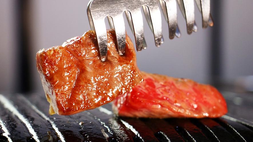 前沢牛☆脂がしたたり落ちるほどの肉を焼きたてお好みの焼き加減で