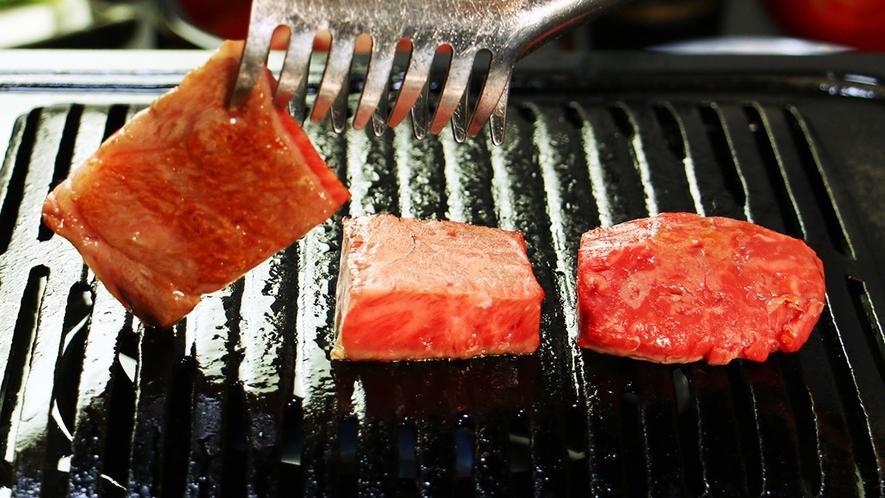 前沢牛3部位食べ比べではそれぞれの肉質の特徴がわかる
