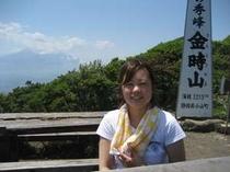 6月13日にアルバイト生を連れて金時山に登りました、富士山も眺められ自然がいっぱい!