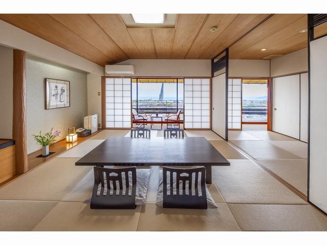 客室 ~海側3階和室10畳+4畳+広縁付き~