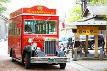 碓氷峠への赤いバス