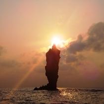 島後のろうそく島です!天気に左右されるので日頃の行いが試されます!