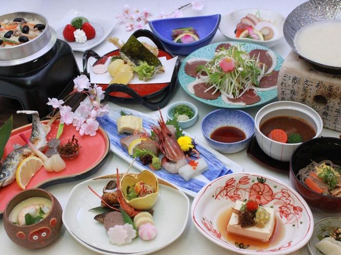 【旬の会席】食材の質にこだわり、季節会席です。(メニュー例)