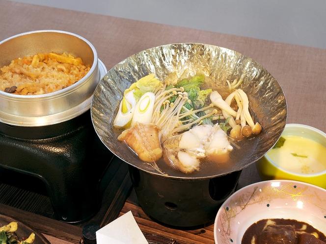 【優しい会席プラン】地元の旬な食材を使っています。(メニュー例)